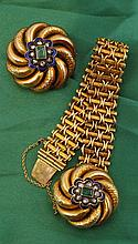 Biedermeier style bracelet and brooch
