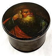 Stobwasser tobacco box with a portrait of a rabbi