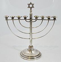 Sandrik silver plated Hanukkah lamp