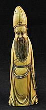 Fine and rare antique Chinese ivory figure of a scholar