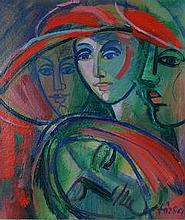 János Józsa  (Hungarian,1936 -): Women with hat