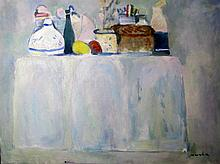 Zoltán Micska  (Hungarian, 1949 -): Top of a sideboard