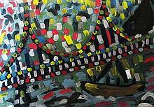 Miklós Cs. Németh (Hungarian,1934-2012): Millennium 2000 at Erzsébet bridge