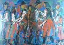 Géza Sz. Kovács  (Hungarian,1938 -): Folkdance