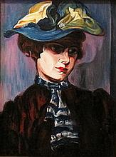 Judit Bényei  (Hungarian,  - ): Woman in hat