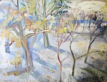 Róza Molnár (Hungarian,1900 - 1977): Winter landscape