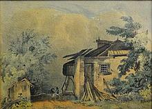 Károly Telepy (Hungarian, 1828 - 1906): House in the Alps