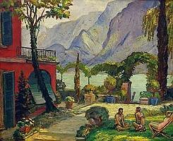 Andor Basch (Hungarian, 1885 - 1944): Italian scenery, Girgenti