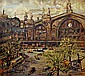 Therese Le Masne-Hirigoyen (1916 - 2000): The Northern Train Station in Paris