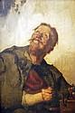 Unknown 19th c. European painter: Musician