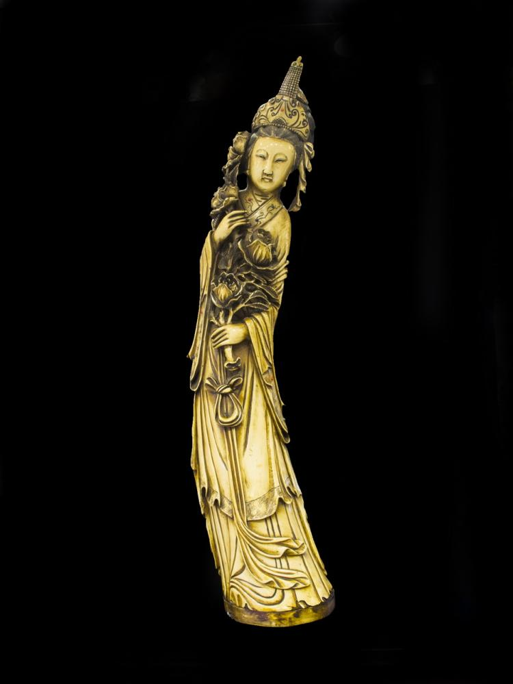 Carved ivory figure