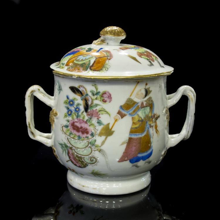 Famille rose tea bowl
