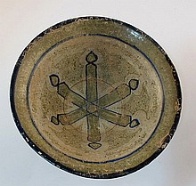 Persian ceramic bowl witha star