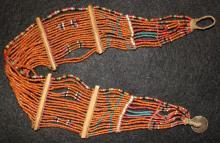India Beads : Young Konyak Girl's Small Belt with Design Work in The Beading