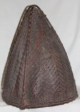 Large Basket : Authentic Naga Khiamungan Large Rice Carrying Cane Basket