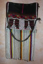 Vintage Purse : Small Vintage Akha Fancy Flap from Northern Thailand ca 1950?s-60?s