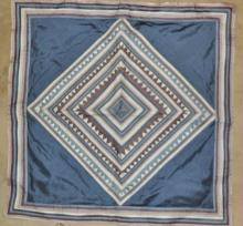 Vintage Bedding : Three Vintage Hand Made Extra Large Silk Pillow Shams in Homong Patterns from Chiang Mai, Thailand