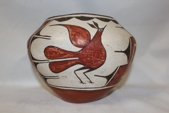 Native American Pottery : Great Zia Polychrome Pottery