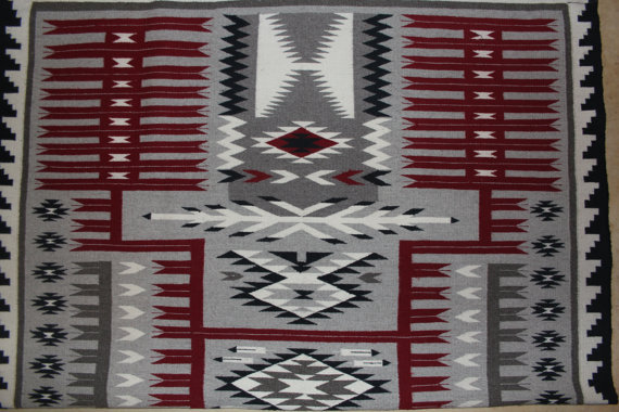 Navajo Weaving : Excellent Large Navajo Weaving #223