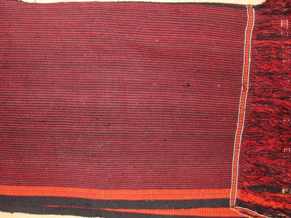 Omani : Vintage Hand Woven Omani Tribal Blanket, #864