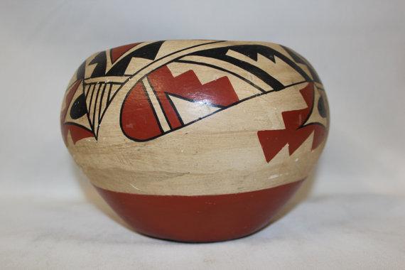 Pueblo Pottery : Very Nice Jemez Pueblo Pottery Bowl #267