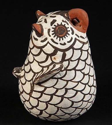 Zuni Pottery Owl: Zuni Pottery Owl by Nellie Bica, #715