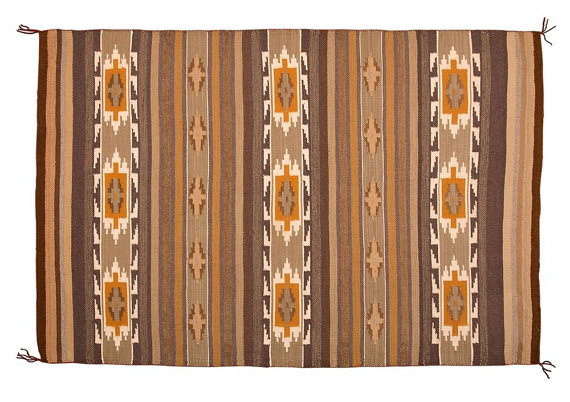 Navajo Weaving/Rug, Crystal Area Woven Rug by Timothy Livingston, #753