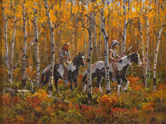 Western Artist: Ron Stewart, *Autumn Light*, Oil Painting on Board, Signed Lower Left Hand Corner, #745