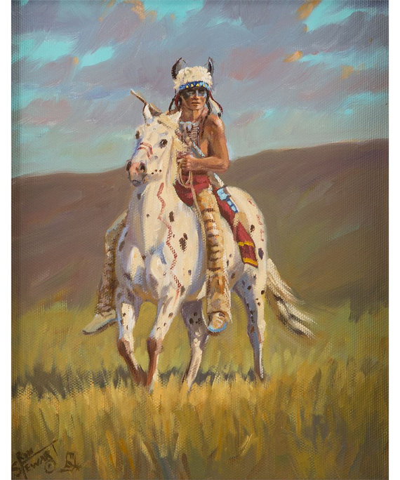 Western Artist: Ron Stewart, *Evening Caution*, Oil Painting on Canvas, Signed lower left hand corner, #742