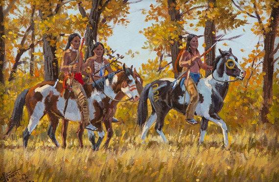 Western Artist: Ron Stewart, *Silent Suspicion*, Oil Painting, Signed left corner, #740