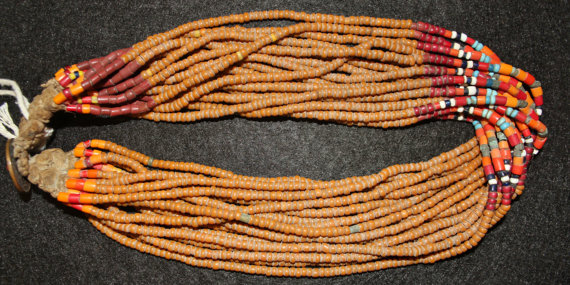 Royal Necklace : Authentic Konyak Naga *Royal* Bead Necklace from Beads That Are Normally in Belts or Collars. #562