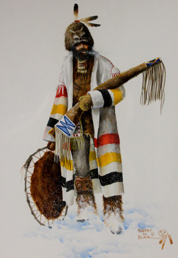 Western Artist, Robert Blair, Water Color Painting,