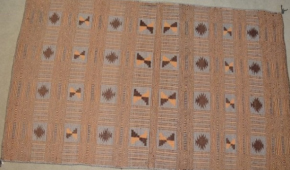 Navajo Rug : Native American Vintage Rare Navajo Double Sided Rug/Weaving, Ca 1970's #537