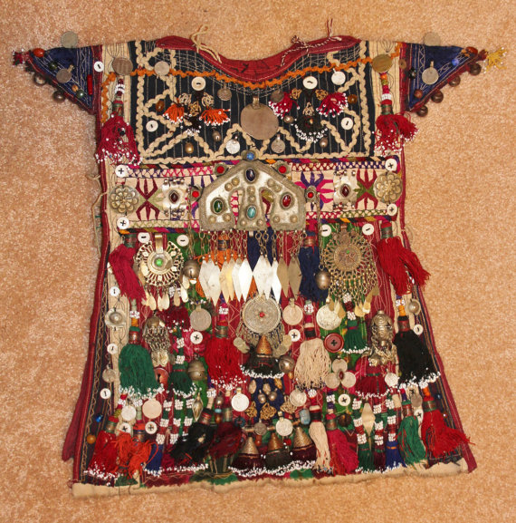 Historical Nomad Turkmen Cherjew Village Children*s Ceremonial Garment, CA 1920*s, #923