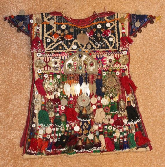 Historical Nomad Turkmen Cherjew Village Children*s Ceremonial Garment, CA 1920*s, #923