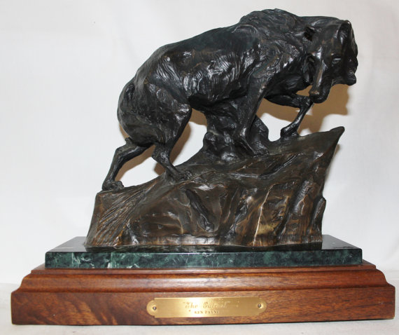 Wolf Sculpture : Coyote, Limiited Edition Ken Payne Bronze Sculpture Entitled