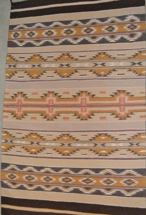 Native Rug : Native American Vintage Chinle Navajo Rug, ca 1980's #533