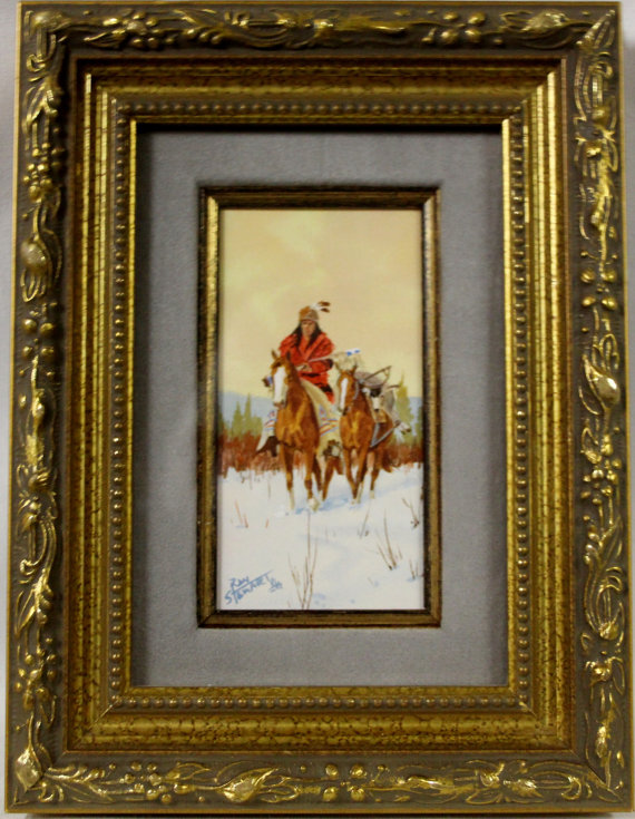 Western Artist: Ron Stewart Water Color Painting,