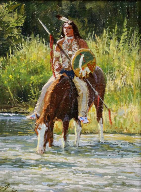 Western Artist: Ron Stewart Oil Painting,