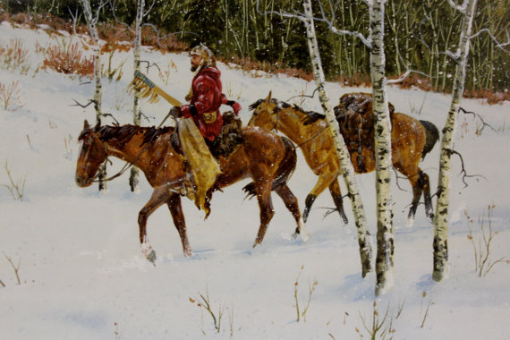 Western Artist: Ron Stewart, Water Color Painting,