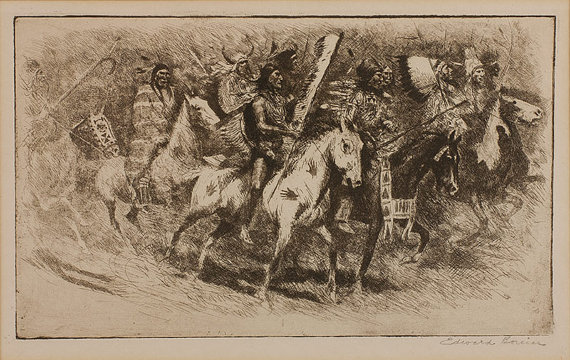 Etching : Edward Borein, Cowboy Artist,