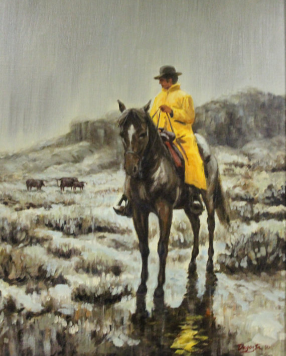 Western Painting : Andy Dagosta Oil Painting,