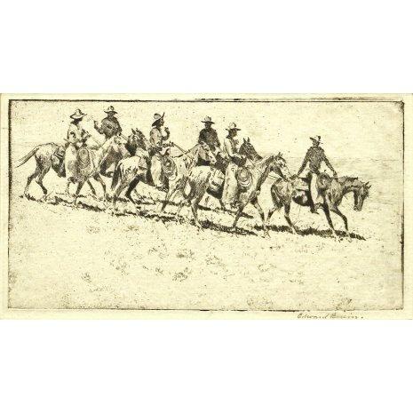 Fine Art Etching : Edward Borein, Cowboy Artist,