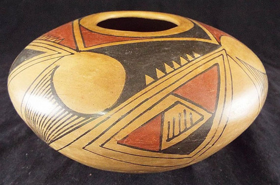 Historic Mata Ortiz Polychrome Pottery Bowl, by Emeterio Ortiz. R.,#803