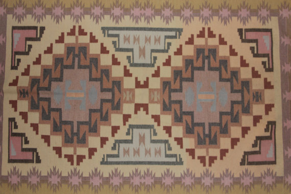 Woven Rug : Finely Woven Navajo Wool Rug by Anita Williams #2