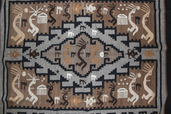 Native Rug : Esther Etcitty Extraordinary Two Grey Hills Weaving #91
