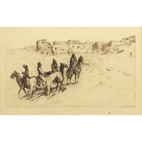 Western Artist, Edward Borein Etching,