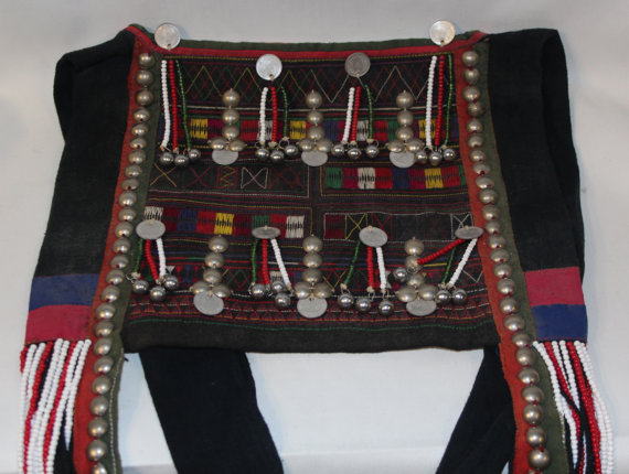 Vintage Purse : Large Vintage Akha Purse from Northern Thailand, ca 1960 #415