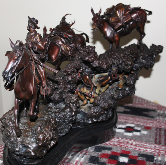 Hunting Art : James Regimbal Rare Ltd Edition Western Bronze