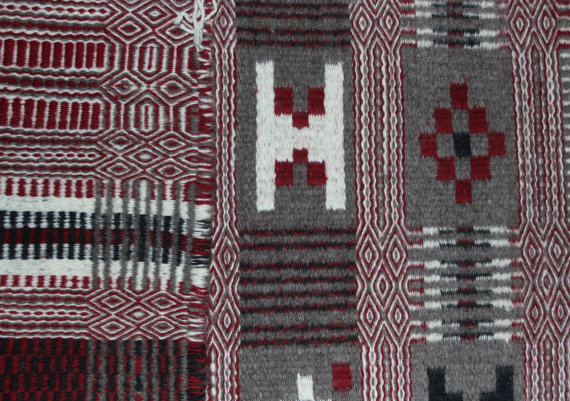 Navajo Rug : Excellent Two Face Navajo Textile, by Victoia Davis #221